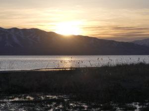 Sunset on Utah Lake